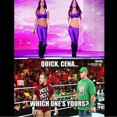 I wonder if the Bella's have ever considered switching on Cena and Bryan just to mess with them. Just some food for thought there.