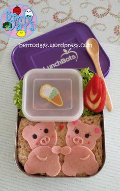 Piggy Bento: Pigs on a Playdate | Bento Days