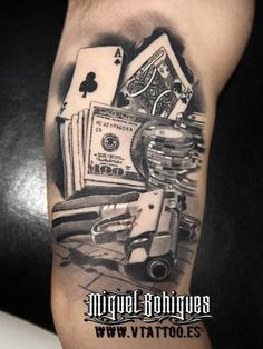 Pull the lever and discover the top 30 best slot machine tattoo designs for men. explore cool jackpot and winner inspired ink ideas. Body Art Tattoos, I Tattoo, Sleeve Tattoos, Cool Tattoos, Tatoos, Lock Tattoo, Poker Tattoo, Gangster Tattoos, Tattoo Ideas
