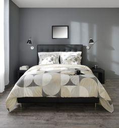 Chambre chic graphique, la nuit toutes les chambres sont grises. Métal, bois et textile, les matières se répondent pour une déco chic à l'élégance intemporelle - BUT