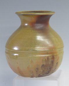 Gold/Orange wood fired vase by NewProspectPottery on Etsy #hudsonvalley, #hvnyteam