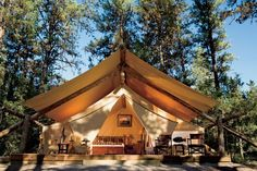 Now thats my kinda CAMPING!   River Camp - Blackfoot two-bedroom tent