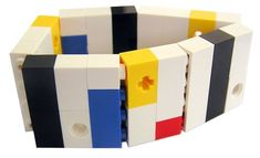 ON SALE Geek chic Primary Colors bracelet - made from LEGO (R) bricks on stretchy cords - Mondrian Bauhaus De Stijl Geek Chic, Bauhaus, Piet Mondrian, Names With Meaning, Lego Brick, Colorful Bracelets, Bracelet Making, Legos, Primary Colors