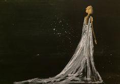 Original Fashion Painting by Tijana Dinovski Original Art, Original Paintings, Fashion Painting, Figurative Art, Buy Art, Paper Art, Watercolor Paintings, Greek Dress, Saatchi Art