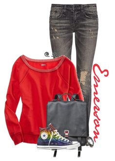 """""""Emerson"""" by animationchic ❤ liked on Polyvore featuring R13, American Eagle Outfitters, Proenza Schouler, Converse, NOVICA, Alexis Bittar, casual, converse, jeans and ocstyle"""