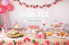 High tea party table   mintstudio creations