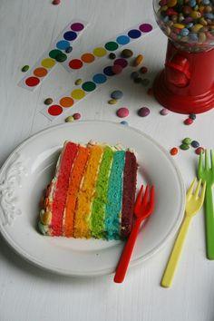 Rainbowcake gâteau arc en ciel 5