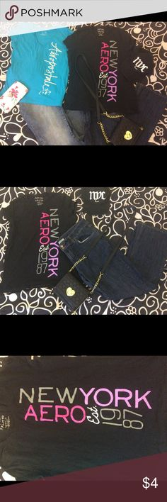 Aeropostale T-shirts These 100% cotton tees by Aeropostale are a fashionable compliment to the jeans and t-shirt look. Please use the custom size buttons when ordering. Aeropostale Tops Tees - Short Sleeve
