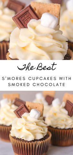 Mini Desserts, Campfire Desserts, Easy Desserts, Delicious Desserts, Campfire Cupcakes, Campfire Cake, Campfire Recipes, Cupcake Recipes, Cookie Recipes