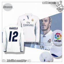 Maillots-Sport: Créer Un Maillot Foot Real Madrid Manche Longue Marcelo 12 Domicile 2016 2017