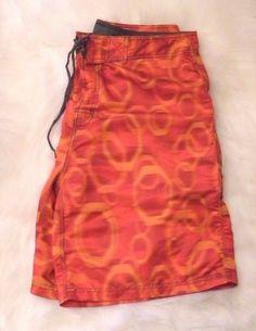 9deaaa7b18 O'Neill Men's Swim Board Shorts Size 36 Bathing Suit Fire Engine Orange