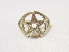 Vintage Sterling silver Star Band Ring Size by wandajewelry2013, $12.00
