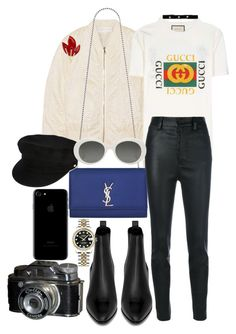 """Untitled #1144"" by veronice-lopez on Polyvore featuring Victoria, Victoria Beckham, Yves Saint Laurent, Gucci, Unravel, Rolex, Manokhi and Bartoli"