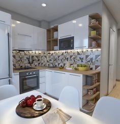Маленькая кухня - Галерея 3ddd.ru