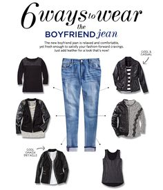 6 ways to wear the boyfriend jean for a comfy casual look