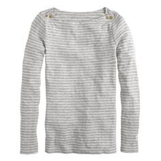 J.Crew - Painter button boatneck tee in skinny stripe