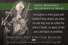 Saint Boniface, Archbishop of Mainz  #catholic