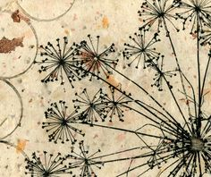 Dill weed solar plate etching on handmade paper by 88editions, $38.00