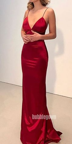 Long Prom Dresses Red, Mermaid Formal Dresses for Teens, Sexy Pageant Dresses V-neck, Open Back Wedding Party Dresses Silk-like Satin Modest Formal Dresses, Open Back Prom Dresses, V Neck Prom Dresses, Prom Dresses Online, Mermaid Prom Dresses, Formal Evening Dresses, Dresses For Teens, Party Dresses, Pageant Dresses
