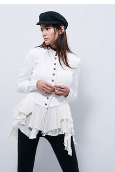 Free People Military Ruffles Jacket, $168.00....Love this all ...