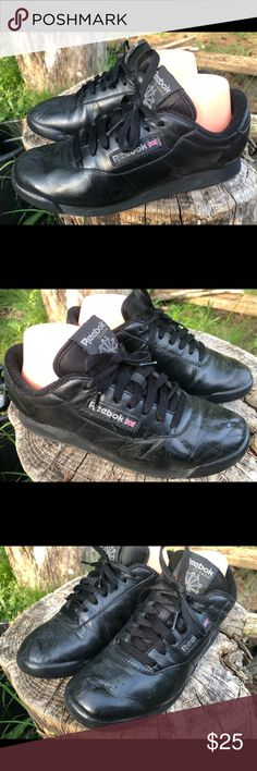 df7a6df8008e7 Reebok Classic Women s Black Leather Sneakers Reebok Classic Women s Black  Leather Sneakers Size 9.5 are good