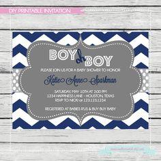 Navy Blue Boy Oh Boy Baby Shower Invitation. DIY by SouthernSwish, $15.00