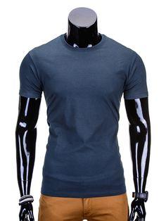 T-SHIRT S620 - JASNOGRANATOWY - Sklep Ombre T Shirt, Supreme T Shirt, Tee Shirt, Tee