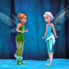 Frozen/Tinker Bell Anna and Elsa as Tink and Pery Princesa Disney Frozen, Disney Princess Frozen, Disney Princess Drawings, Disney Princess Pictures, Disney Drawings, Frozen Movie, Images Disney, Disney Pictures, Disney And Dreamworks