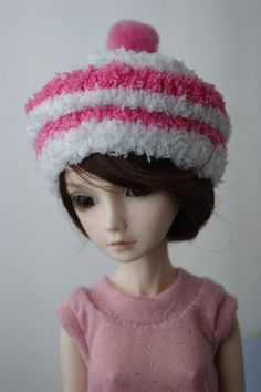 Fuzzy cupcake hat for MSD BJD by laurenpayton on Etsy