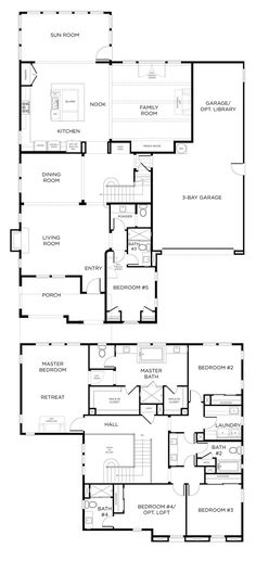 Today for Floor Plan Friday I went searching for a 2-storey plan and found this one. It's probably a little fancier than most people can afford, but we can all dream right??! I loved it and would say yes to this in a heartbeat! The upstairs area is amazing with all the bedrooms and bathrooms! …