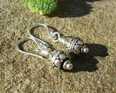 Bali Silver Earrings Dainty 925 Sterling Silver by BonArtsStudio