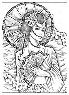 Pour imprimer ce coloriage gratuit «coloriage-geisha-japonaise-tatoo», cliquez sur l'icône Imprimante situé juste à droite