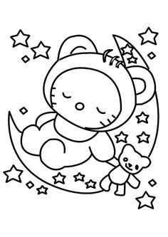 Hello Kitty Coloring Pages Printable And Book To Print For Free Find More Online Kids Adults Of