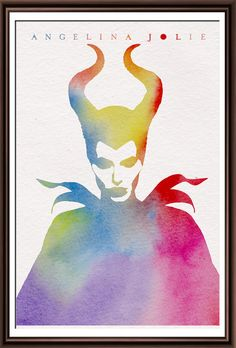 Jolie. Maleficent. Watercolor illustrations by ItemsFromAlexander