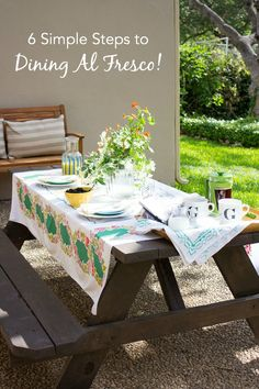 Enjoy a meal outside with these simple ideas!