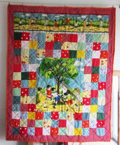 Round the Mulberry Tree - nursery quilt by adaliza.co.uk (2016) Mulberry Tree, Be Kind To Yourself, Nursery, Quilts, Blanket, Scrappy Quilts, Baby Room, Quilt Sets, Child Room