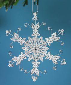 Stunning Stellar Dendrite Snowflake  White by AGiftwithinaGift, $16.25