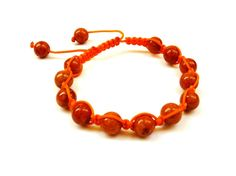 $24 Shamballa Bracelet One Color Orange Riverstone.  Available here:  http://bijouxbleu.panierdachat.com/en/details.php/qs/prodId/47010/
