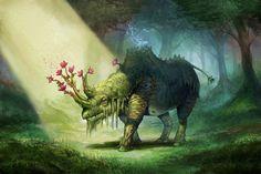 Magical animals Fantasy creature wallpaper | 1920x1282 | 100628 ...