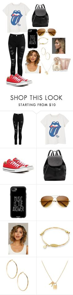 """""""Rolling Stone"""" by ovohalloweengang ❤ liked on Polyvore featuring Dorothy Perkins, MANGO, Converse, Witchery, Casetify, GUESS by Marciano and Vince Camuto"""