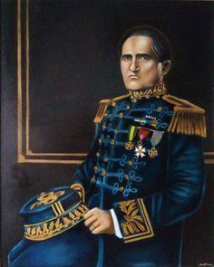 Retrato do General Potyguara, heroi da guerra do Contestado. óleo sobre tela medindo 0,80 x 100 cm