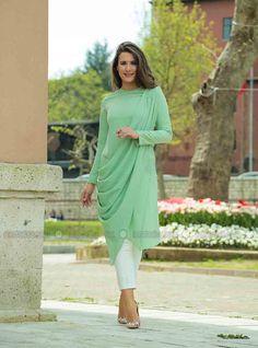 Helis Tunic - Green - ÂRÂ Zeynep Bilyay