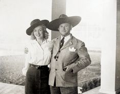 Marilyn next to Aviv Wardimon (who later changed his last name to 'Blackman'); a security guard at one of the movie studios (most probably 20th Century Fox) who evidently struck up a friendship with the then-starlet, 1947.