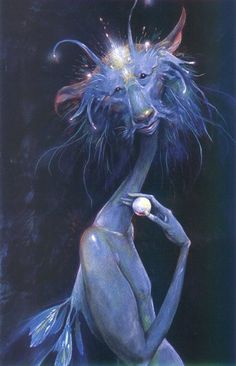"""""""Ilbe the Retriever"""" -- Brian Froud  i call on Ilbe quite often.  He helps me find all the stuff i misplace.... c."""