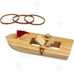 Wooden Rubber Band Powered Boat: Only £4.99 from Toyday Toyshop. Toyday traditional & classic toys is an old fashioned toy shop on the high street and online. Merchants of traditional and classic toys, Toyday's focus is on good old fashioned customer service & traditional value.