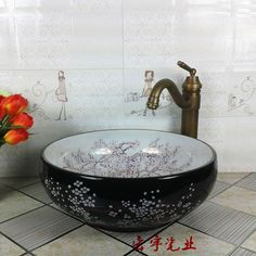 High temperature fired handmaded ceramic sink bowls for bathroom