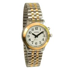 Talking Watch-Ladies-2 Voices-Bi-Color-Expans Band - Talking Watches - MaxiAids