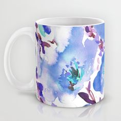 Bouquet Blue mug by Amy Sia