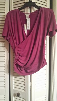 stitch fix dylan and rose ruthie cross-front side ruched top - Google Search