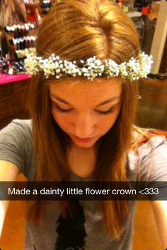 Flower crown, made for a wedding. All baby's breath, very dainty like